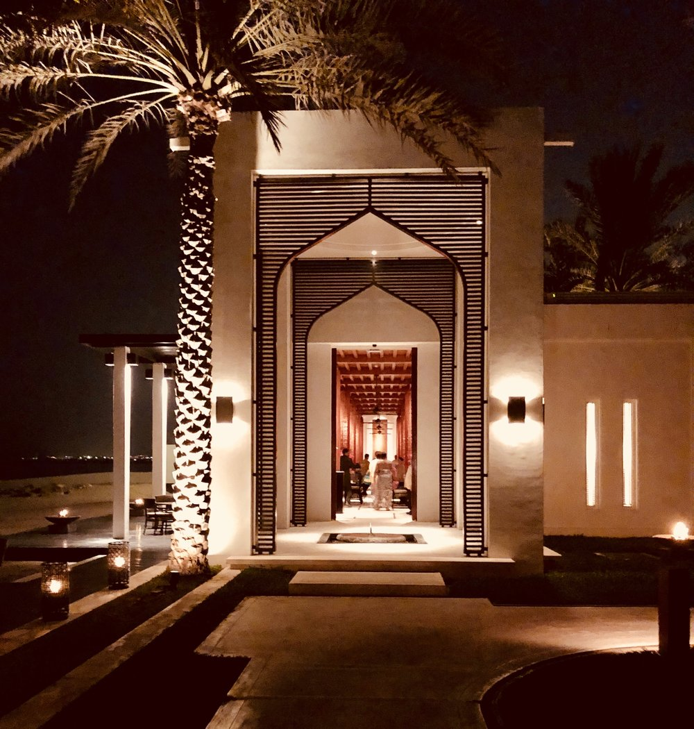 Entrance to one of the restaurants at the Chedi