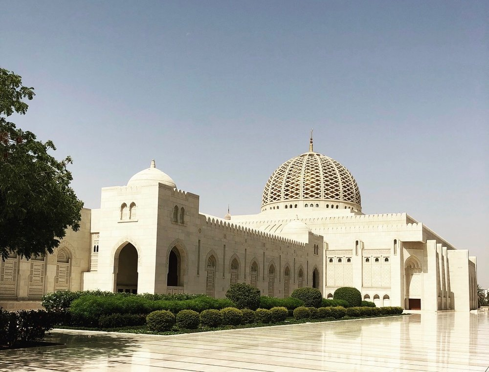 The Sultan Qaboos Grand Mosque recently completed