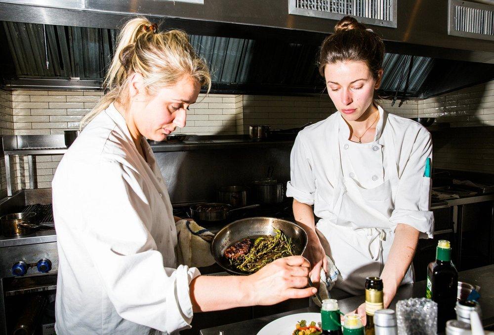 Chefs at work - Jess Shadbolt and Clare de Boer