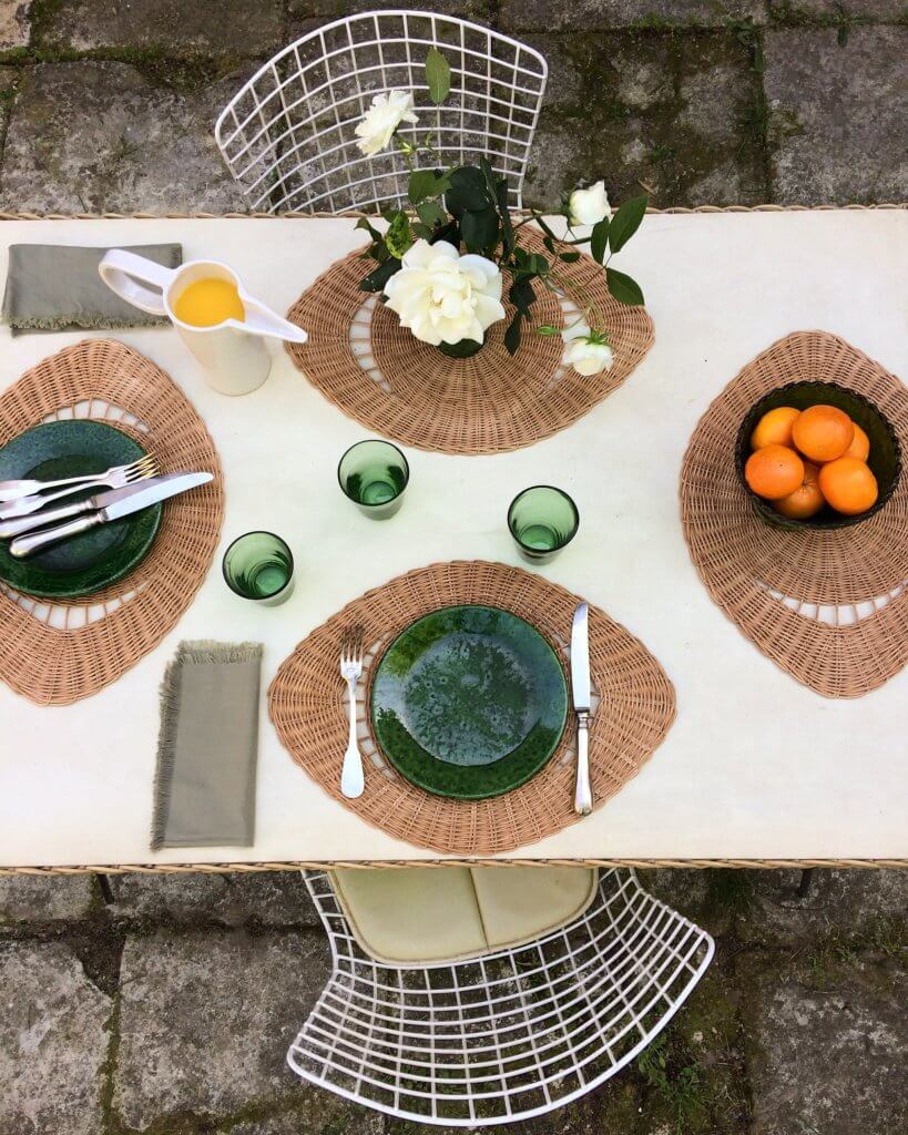 """The Eye"" rattan placemats"