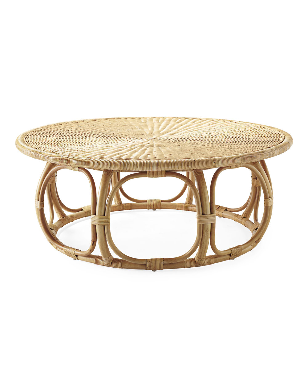 Anguilla rattan coffee table - Serena & Lily