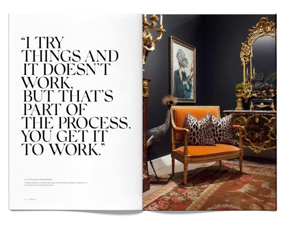 A page from Ryan Korban's new book -  Ryan Korban: Interiors