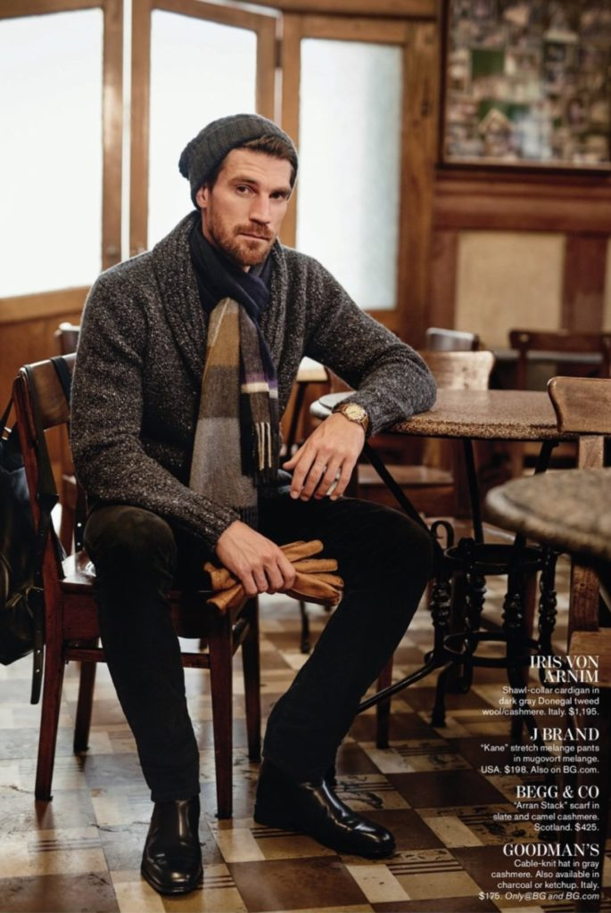 A cosmopolitan mix of tweed, plaid and cashmere