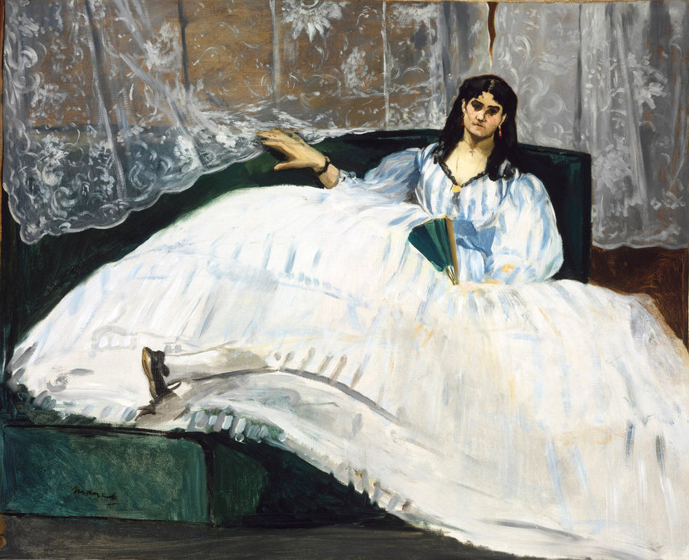 "Édouard Manet, ""Baudelaire's Mistress (Portrai of Jeanne Duval),"" 1862 - The Museum of Fine Arts Budapest/Scala, via Art Resource, NY"