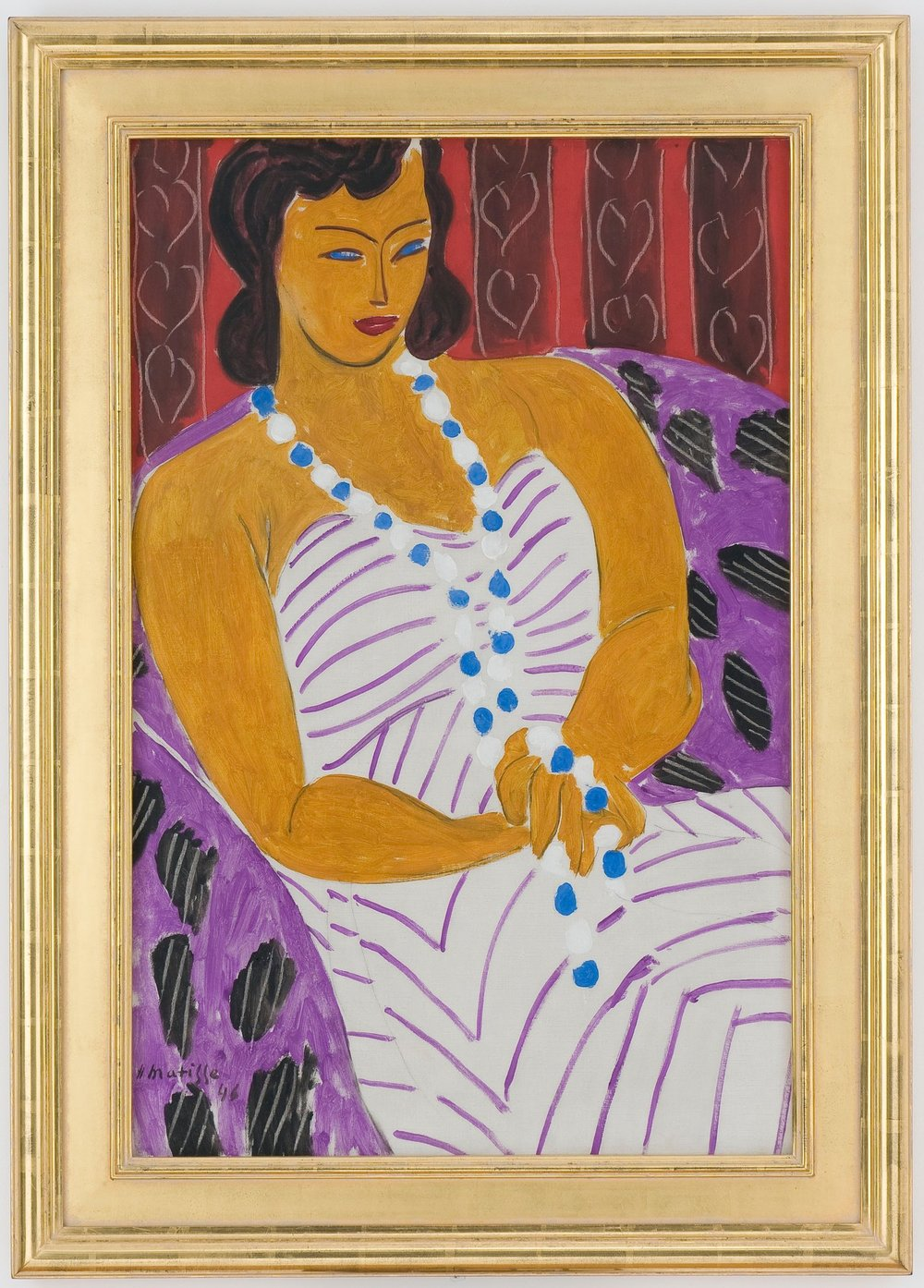 "Henri Matisse ""dame à la robe blanche (Woman in White),"" 1946 - 2018 Succession H. Matisse/Artists Rights Society (ARS) New York"
