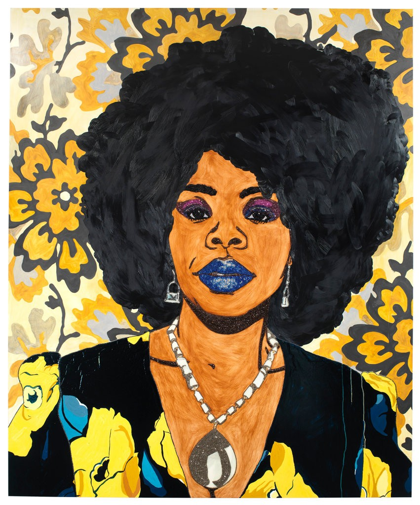 "Mickalene Thomas, ""Din, une trés belle négresse"" 2012 - 2018 Mickalene Thomas/Artists Rights Society (ARS), New York"