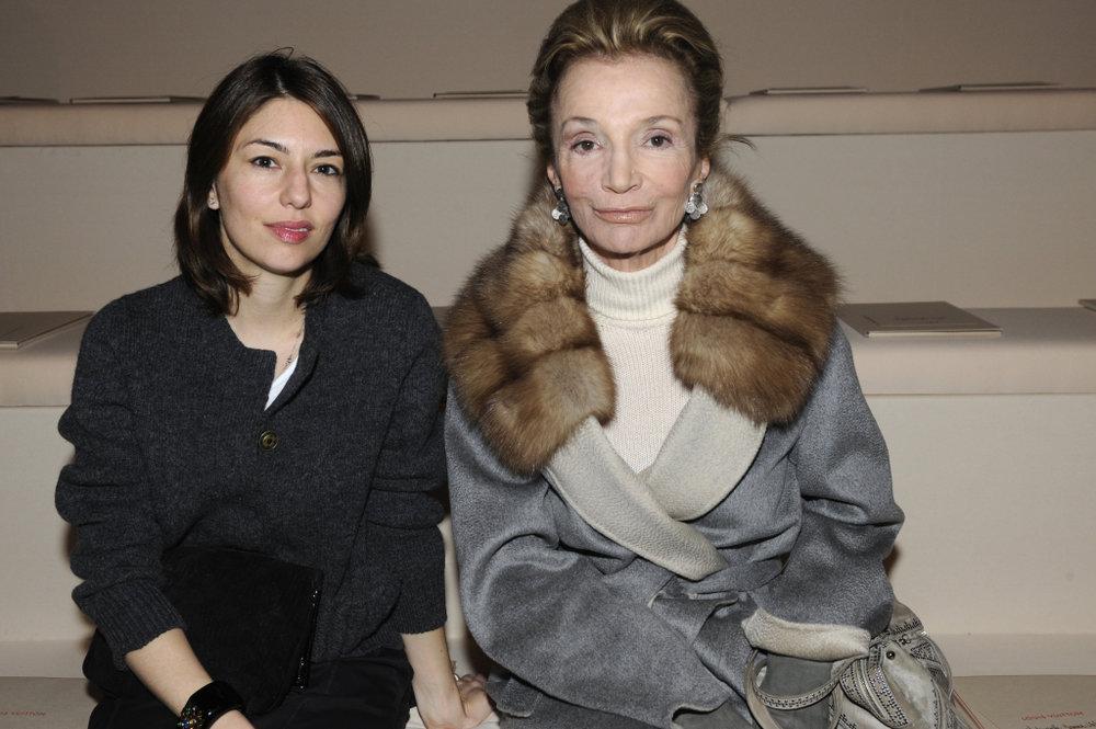 With filmmaker Sofia Coppola