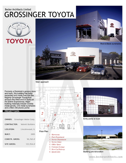 Auto becker architects for Grossinger motors normal il