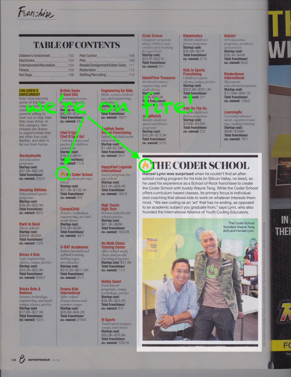 theCoderSchool in Entrepreneur Magazine!