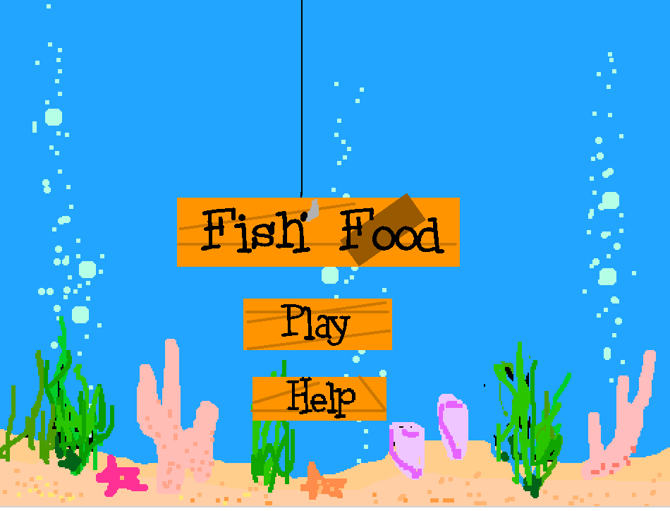 Fish Food , coded by a Coder School student (click to play!)