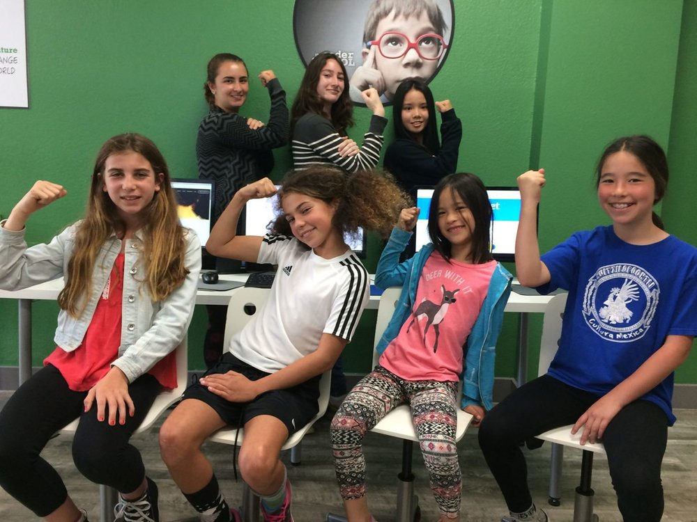 Girl Coding Power, in our San Francisco location