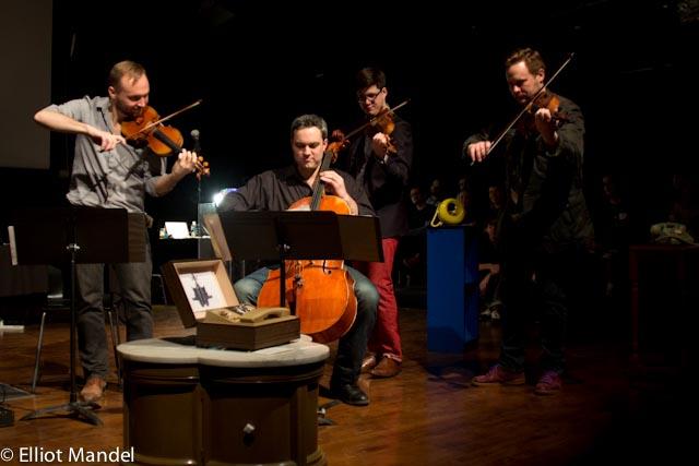 Spektral Quartet plays a brand new ringtone.