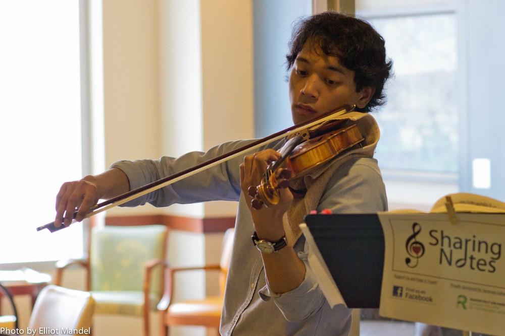 Violinist Francis DeAsis