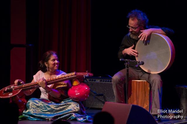 Saraswathi Ranganathan (left),  Bob Garrett
