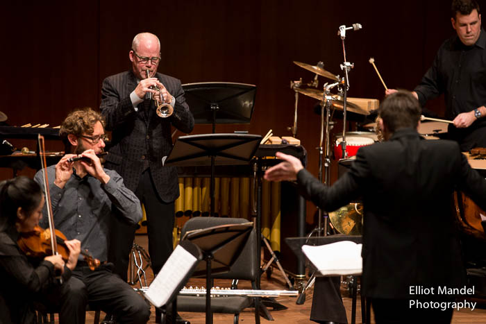 Stephen Burns, trumpet, and David Fulmer conducting.