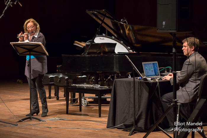 "Mary Stolper and Ben Sutherland perform Howard Sandroff's ""Chants des Femmes."""