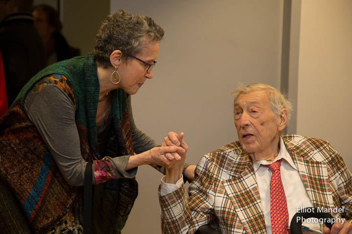 Shulamit Ran and Gunther Schuller.