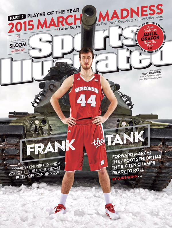 Cover portrait of Frank Kaminsky by Todd Rosenberg.