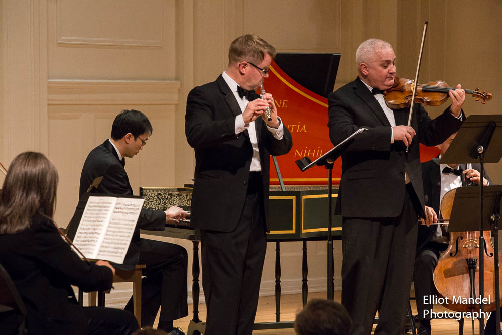Flutist John Thorne and violinist Stefan Hersh with Jason Moy