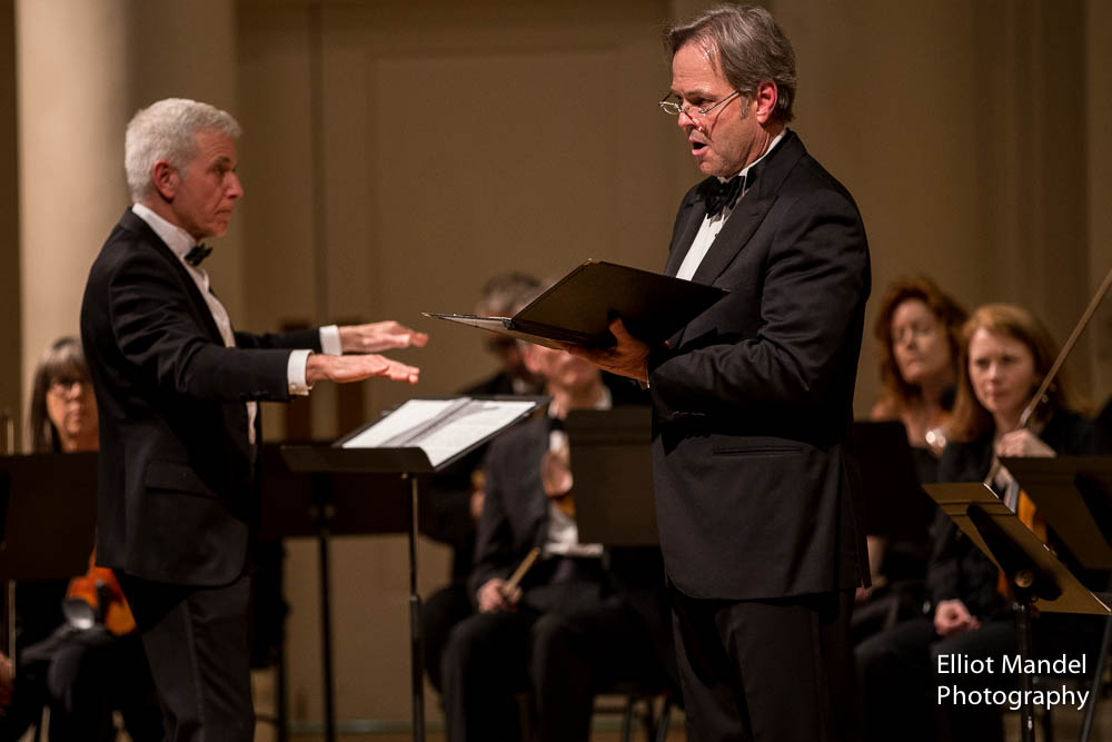 Conductor Richard Webster and Douglas Anderson