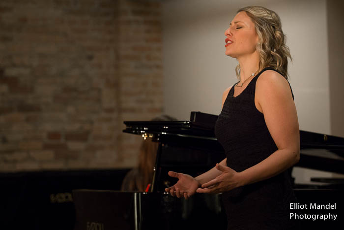 Bridget Skaggs performs in a master class