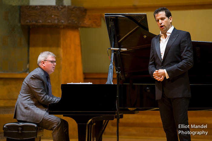 Bass-baritone Luca Pisaroni with pianist Craig Terry.