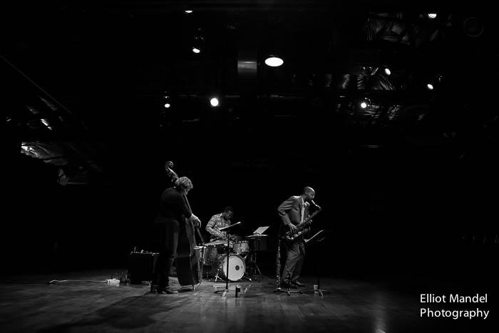 Marlene Rosenberg (bass), Greg Artry (drums), Melvin Butler (sax)