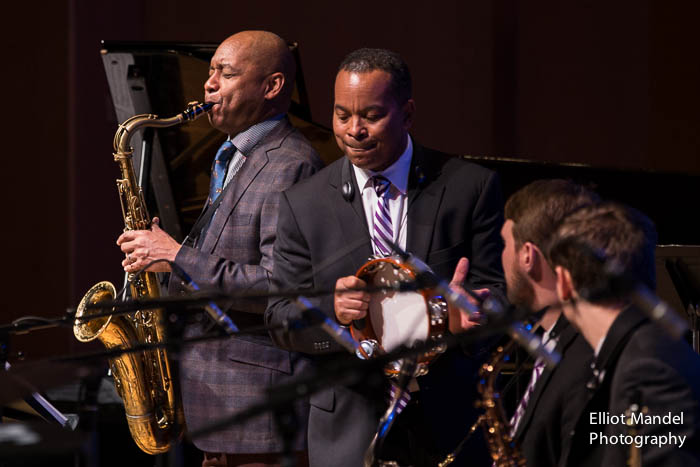 Branford Marsalis, Victor Goines with the Northwestern Jazz Band