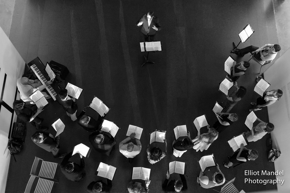 Birds-eye-view of Bella Voce at the Museum of Contemporary Art.