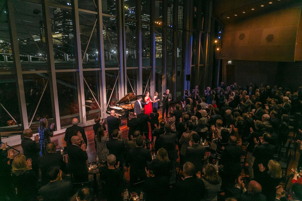 "Harris Theater presents ""Beyond the Aria"" with Heidi Stober, Lindsay Metzger, Andrew Stenson, and Craig Terry at Millennium Park, March 1, 2018."