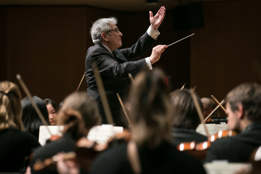 Victor Yampolsky and the Northwestern University Symphony Orchestra, February 3, 2018.