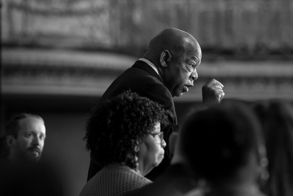 Every word matters: Rep. John Lewis addresses the American Library Assoc. (Photo by Elliot Mandel, copyright 2017, all rights reserved.)