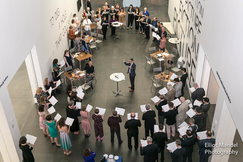 Bella Voce stand and sing as one during their annual gala at the Museum of Contemporary Art (May 19, 2018).