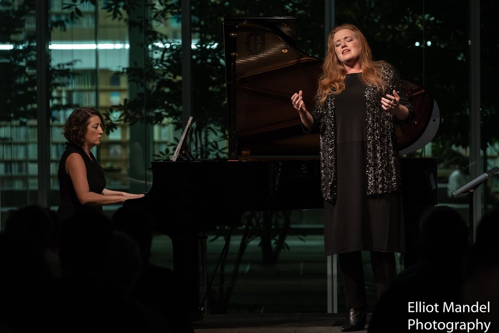 Mezzo-soprano Jennifer Johnson Cano and pianist Shannon McGinnis open the 2018 Collaborative Works Festival (Sept 5, 2018).
