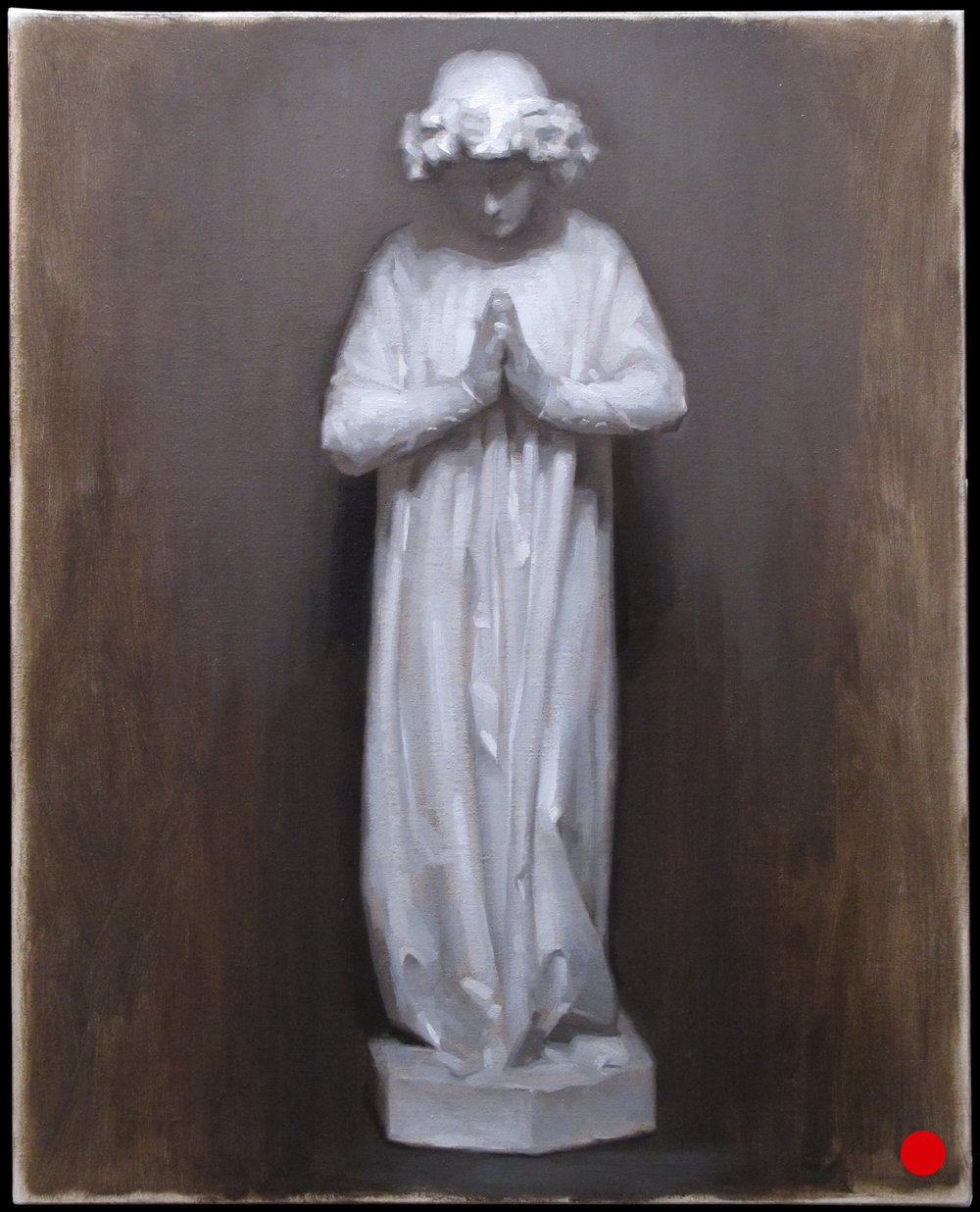"Introduction to Cast Painting  (Workshop) ~ JH ""Angel Cast Painting Study"" Oil on Linen Image Size = 16"" x 24"" $675"