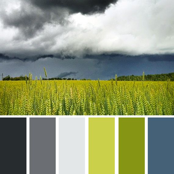 The spring colors of an approaching storm...