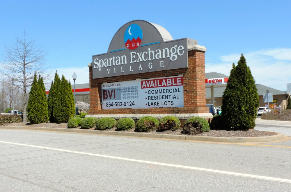 Spartan Exchange Village Entrance