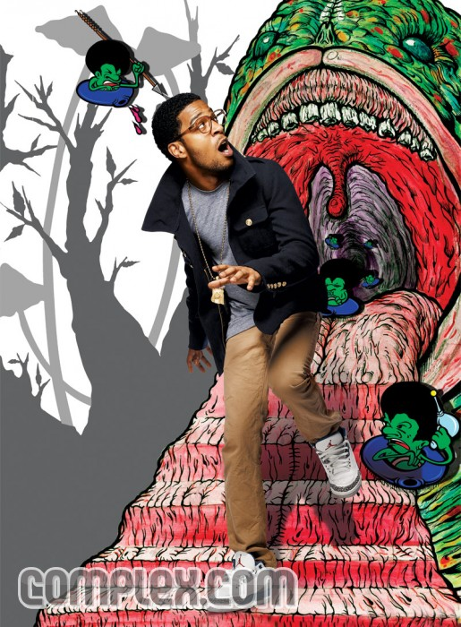 Kid Cudi in our Rocker cut in our selvedge twill fabric on the cover of Complex Magazine. via: Hip Hop For Nerds