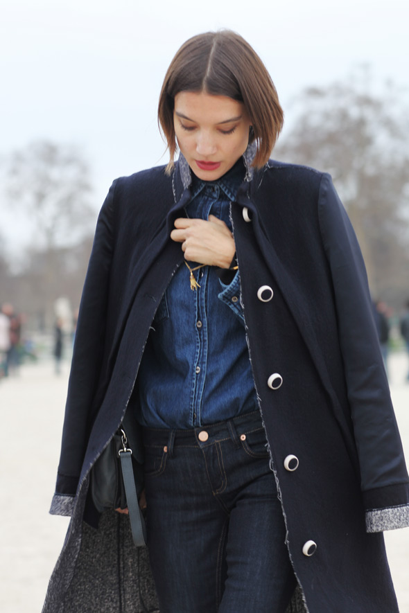 gorgeously executed double denim!