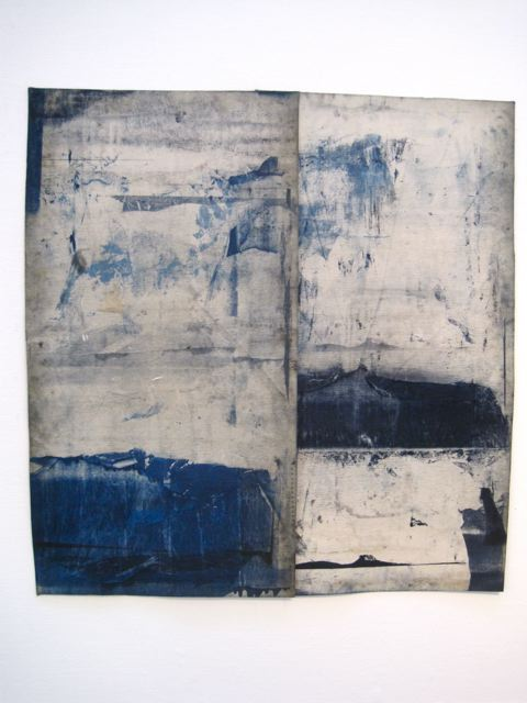 Reminiscent of denim… dailyartjournal: Helen Birch, Untitled
