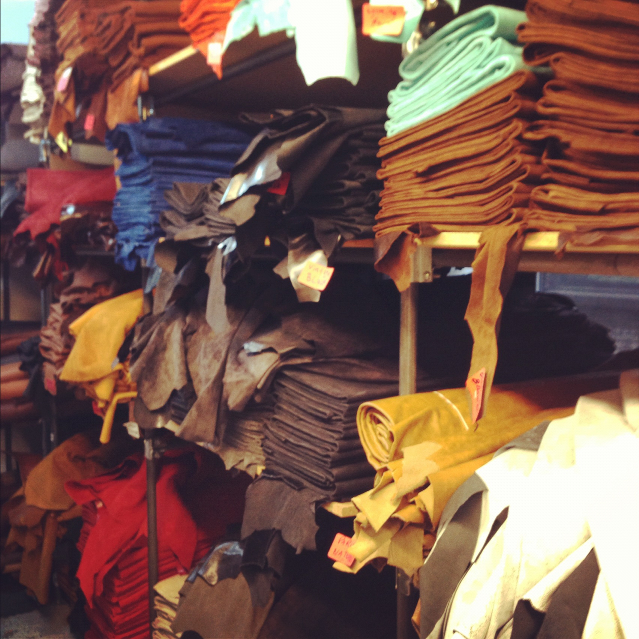 Today we spent some time with a few tanneries and suppliers looking for some new great stuff, and we found it. Leather is going to be huge this Fall and nobody does leather like the Jean Shop. Stop in and see for yourself.