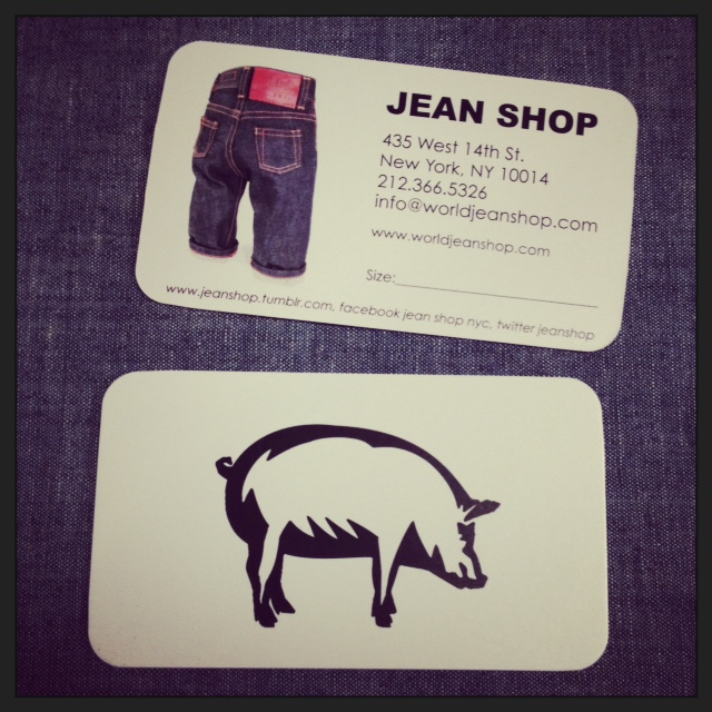 New business cards in. Oh yeah. #JEANSHOP