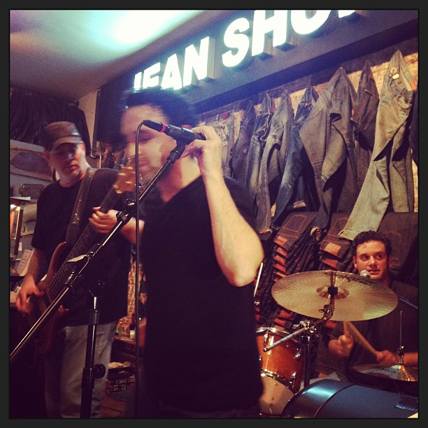 Live music at the shop tonight. #livemusic #liveaction #shortshorts #jeanshop #jeanshopnyc #jeans #music #meatpacking