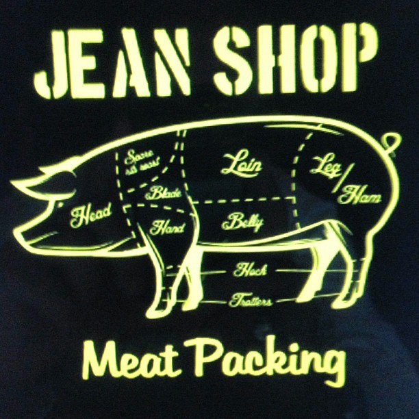 New T-shirt coming soon. #jeanshop #wearthepig #jeans #denim #nyc #pig #meatpacking
