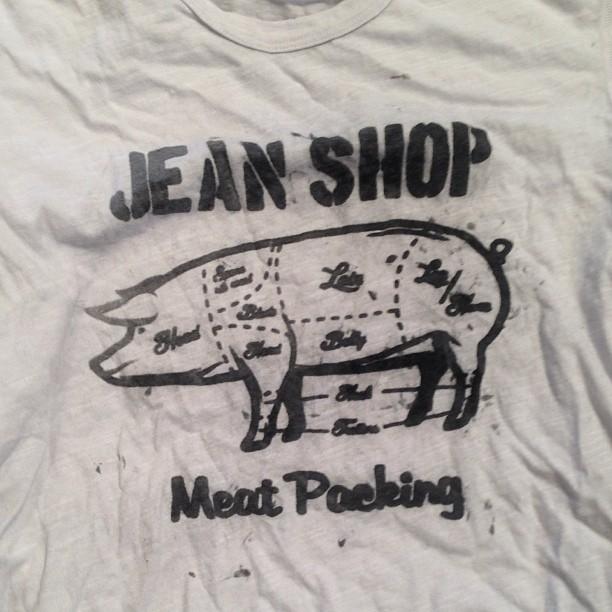 #wearthepig #pig #jeanshop #t-shirt #graphics ##meatpacking #vintage #butcher