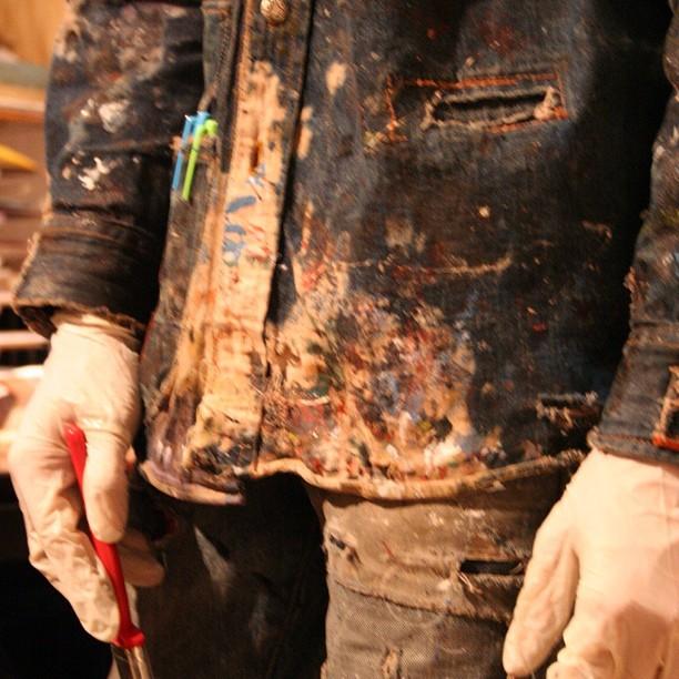 #hardatwork #washing #artwork #denimart #custom #selvedge #jeanshop #fashion #shotoftheday #greatshot #working #beautiful