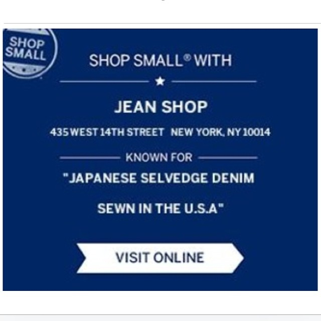 Support small business today. Support made in America. #shopsmall #madeinamerica #madeinusa #nyc #meatpacking #fashion #jeanshop #jeans #denim #selvedgedenim #selvedge #shopping