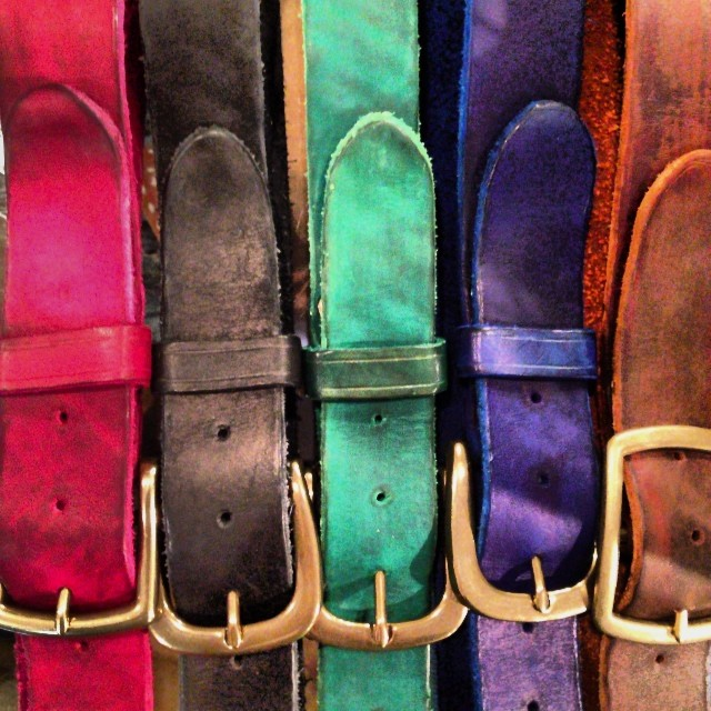 Www.worldjeanshop.com #jeanshop #jeanshopny #beautiful #color #custom #belt #leathercraft #madeinnyc #leather #brass #gift #greatshot #giftidea #gift idea #holiday color