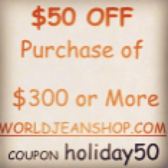 First time ever. Get $50 off any purchase of $300 or more. Use coupon code holiday50 #jeans #jeanshop #coupon #selvedgedenim #selvedge #selvage #fashion #denim #shirt #nyc #mensatyle #style #firtstime #denim #chippewa #leatherwork #leathercraft #leather #loveit #discount #deal #gottahaveit