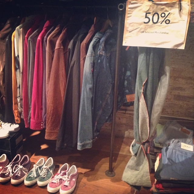 50% off selected merchandise in store only.435 west 14th NYC #jeans #jeanshop #jeanshopny #sale #fashion #nyc #menstyle #women #footwear #meatpacking #special